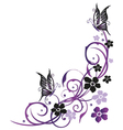 Summer flowers with butterflies vector image