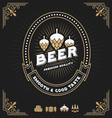 Vintage beer and beverage frame design vector image