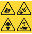 Warning UFO Signs vector image