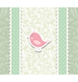 Card for valentine day with bird vector image vector image