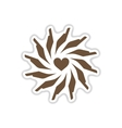 paper sticker on white background hands heart vector image