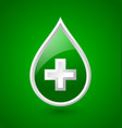 Green blood medical icon vector image