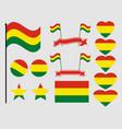 bolivia flag set collection of symbols flag vector image