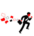 a man in a suit tie and with briefcase vector image