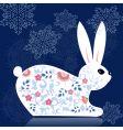 decorative bunny vector image