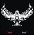 White Eagle Bird vector image