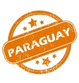 Paraguay grunge icon vector image