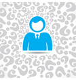 people with question mark background vector image