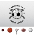 League college insignia and labels for any use vector image