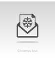 Christmas letter icon vector image