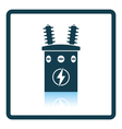 Electric transformer icon vector image vector image