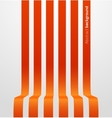 Abstract red striped perspective background vector image
