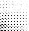 Black and white curved shape pattern vector image