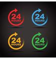 colour set 24 hours vector image