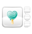 Dessert food icon with mint ice cream cone and vector image