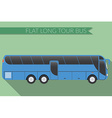 Flat design city Transportation Bus intercity long vector image