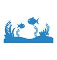 seafloor scene isolated icon vector image
