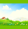 spring bloom landscape vector image