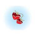 two heart pendants vector image