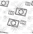 vintage photo cameras seamless pattern vector image