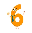Cute and funny colorful 6 number characters vector image