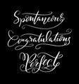 congratulations and perfect typography vector image