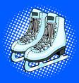 skates pop art style vector image