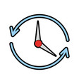 time clock with arrows icon vector image
