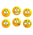 Set of yellow emoticons vector image vector image