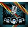 grunge retro music background vector image vector image