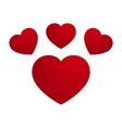 Love Heart Footprint Design vector image