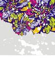 floral vector postcard vector image vector image