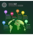 3D Abstract World Map vector image