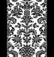 seamless floral damask pattern black white color vector image