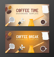 coffee break banner backdrops templates vector image