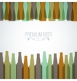 beer bottles with glasses design background vector image