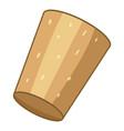 brown cork plug icon cartoon style vector image