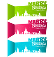 Christmas Banners Village vector image