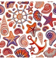 Cute nautical seamless Marine pattern vector image