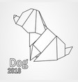 origami dog vector image