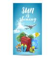 realistic summer vacation design for travel with vector image