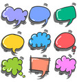 style of text balloon colorful set vector image