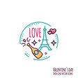 valentines day icon stamp sticker label baner vector image