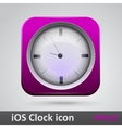Clock glossy icon vector image