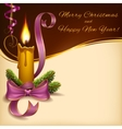 Christmas lighted candle horizontal format vector image