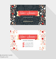 Creative Business Card Template Flat Design vector image