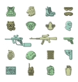 colored paintball or airsoft icon set vector image