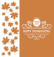 Happy Thanksgiving Vintage calligraphic elements vector image