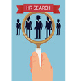 HR Looking for a Candidate Through a Looking Glass vector image
