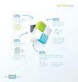 template 3D Cube green blue gray color vector image